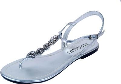 Foonty Women Silver Flats