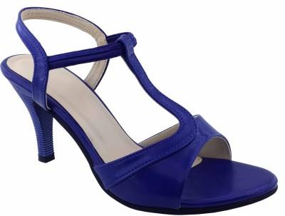 Plutos Women Blue Heels
