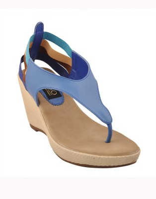 Senso Vegetarian Shoes Women Blue Wedges
