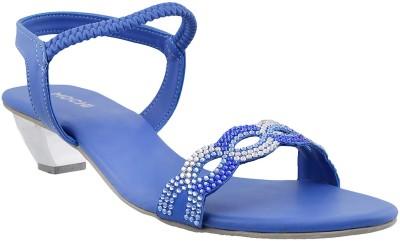 Mochi Women Blue Heels