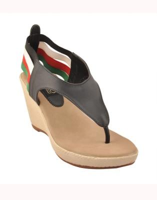 Senso Vegetarian Shoes Women Black Wedges