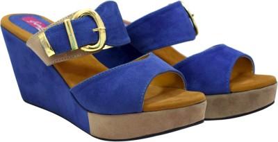 Femine Women Blue Wedges