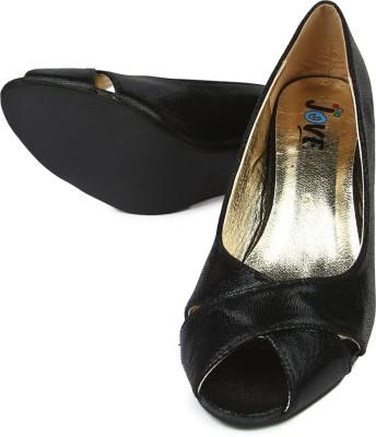Jove Women Black Heels
