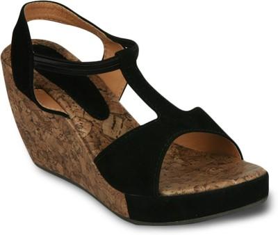 Studio 9 Tinkling Sandals Women Black Wedges