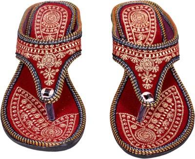 Jaipuriyaa Women Maroon Flats