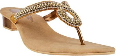 MSL Women Gold Flats