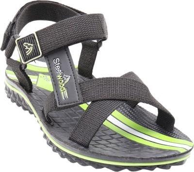 Steelwood Men Green Sandals