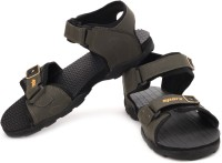 Sparx Men Olive Yellow Sports Sandals