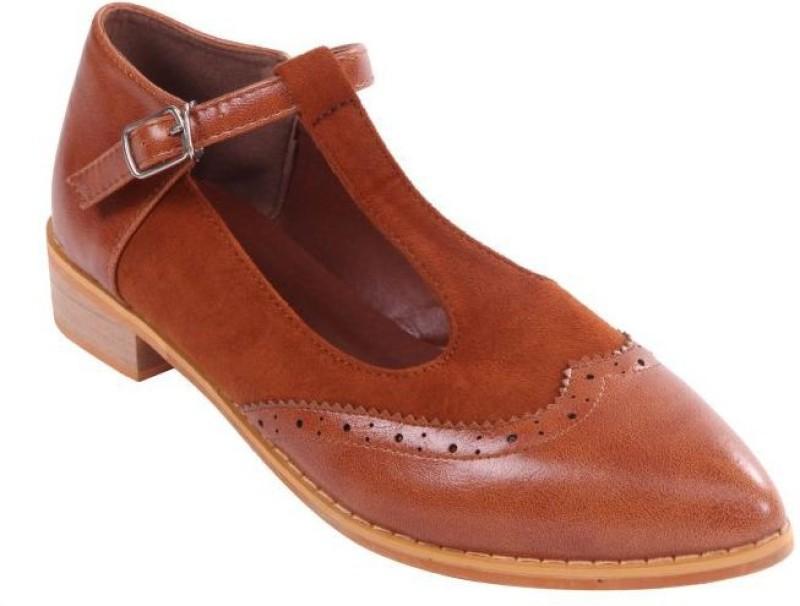 Soulier Carte Women Brown Flats