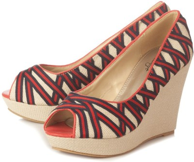 Vero Couture Women Red Wedges