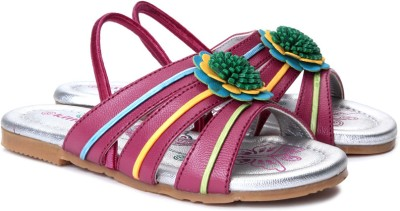 Kittens Girls, Boys Silver, Pink, Multicolor, Yellow Sports Sandals