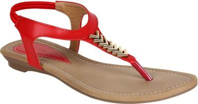 Glitzy Galz Women Red Flats