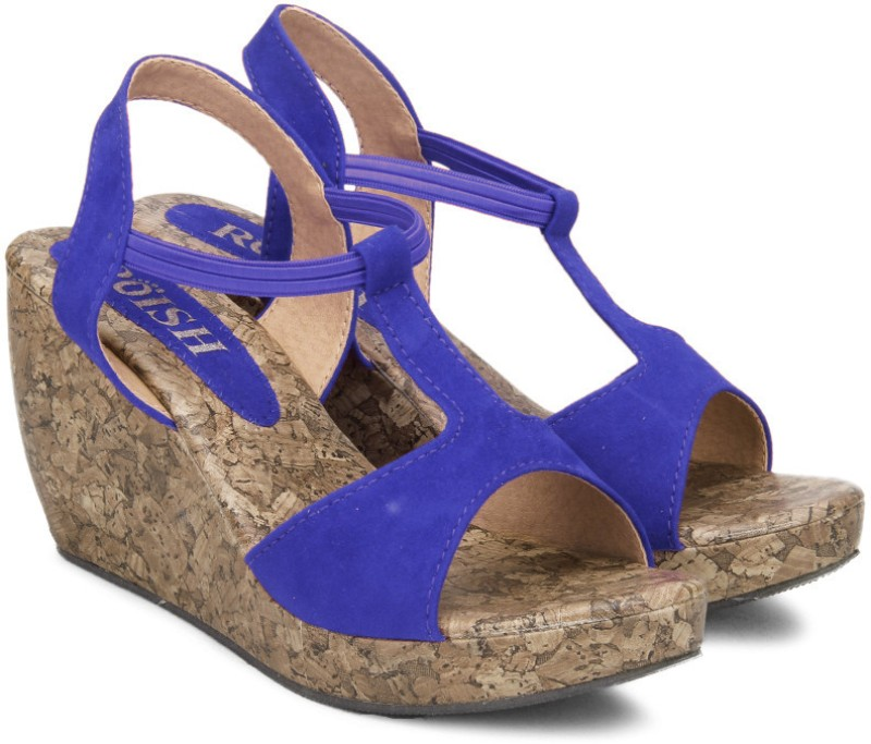 Roish Jess Women Blue Wedges