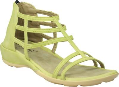 Leatherworld Women Yellow Flats