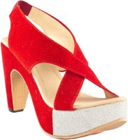 Dolphin Miles Women Red Heels