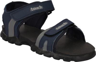 Touch Men Navy, Grey Sandals