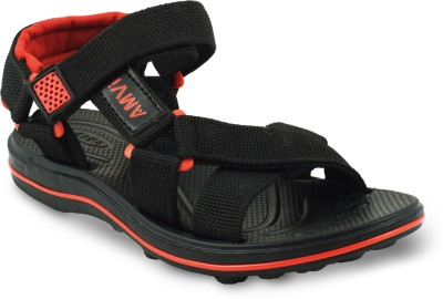 Amvi Boys Red, Black Sandals
