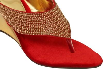 Remson India Women Red Wedges
