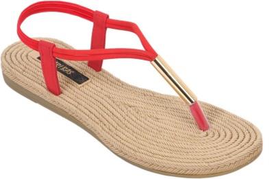 ARIBAS Women Red Flats