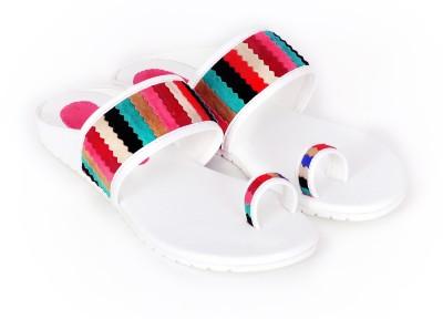 FOLKNATION Women Multicolor, White Flats