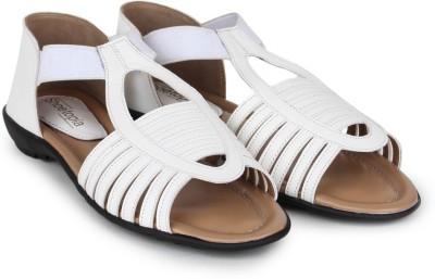 Shoetopia Women White Flats