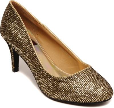 Flat n Heels Women Gold Heels
