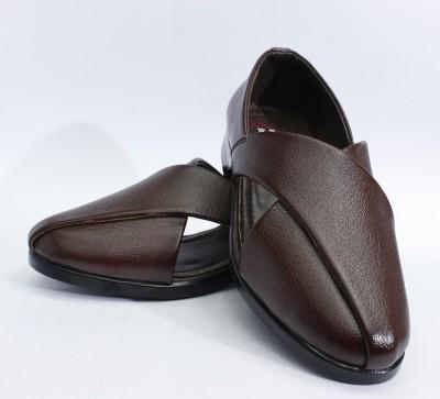Ashirwad Men Brown Sandals