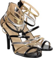 Venus Steps L17-131220-1 Women Black, Gold, Silver Heels