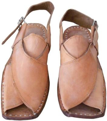 Kalra Creations Men Camel Sandals