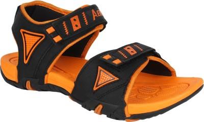 Aero Men Black, Orange Sandals