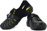 Globalite Men Black, Yellow Sandals