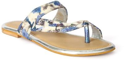 Tic Tac Toe Women Blue, Blue Flats