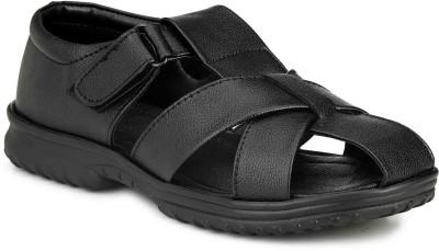 Manav Men Black Sandals