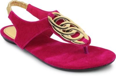 SRS Pink Women Casual Sandal Women Pink Flats
