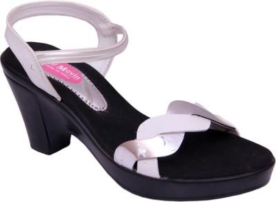 Multi Movin Women White Heels