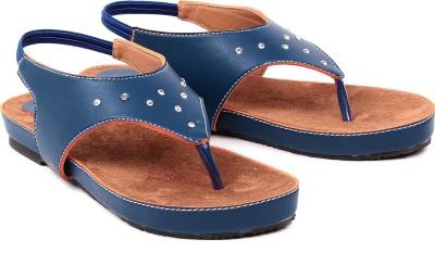 Dezire Women Blue, Tan Flats