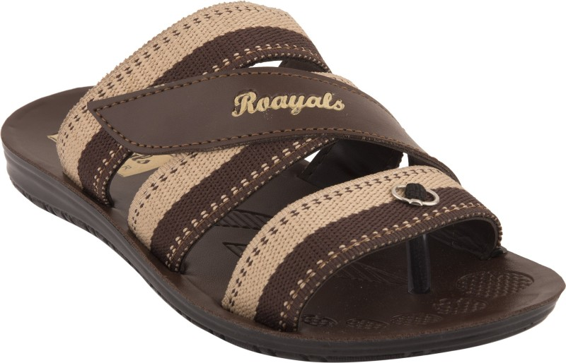 Roayals Men Brown::Cream Sandals