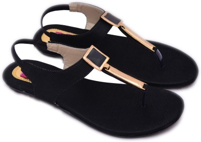 Myra Women Black Flats