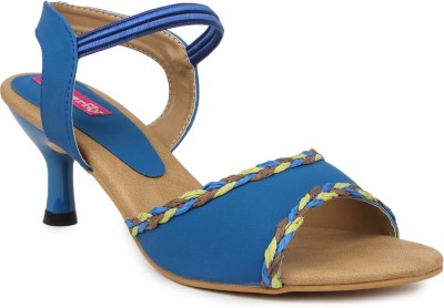 Butterfly Women Blue Heels