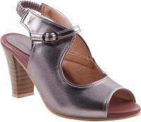 Adorn Women Silver Heels