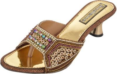 AXCELLENCE Women Gold Heels