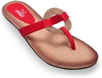 Ajanta Red Women Red Flats