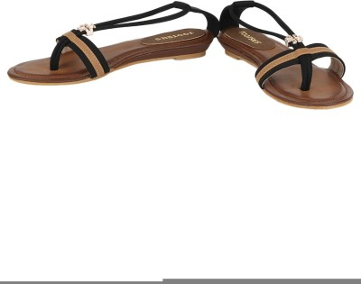 Tootsies Women Brown, Black Flats