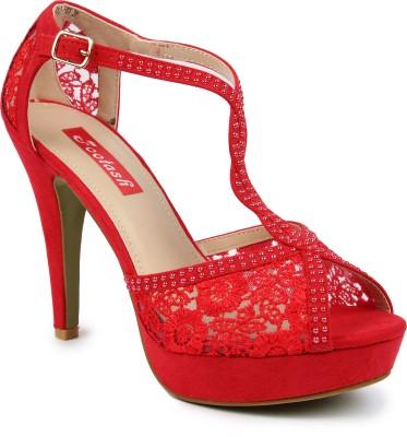 Footash Women Red Heels