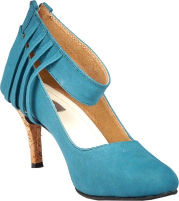 PAIO Women Blue Heels