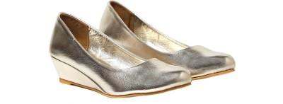 Craze Shop Women Silver Wedges