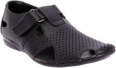 99 Moves Men Black Sandals