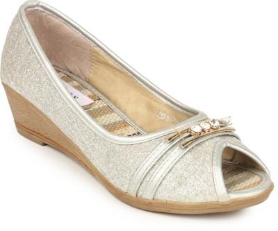 Stylistry Women Silver Wedges