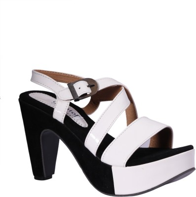 Pantof Women White Heels