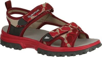 Quechua Girls Red, Black Sandals